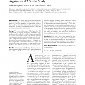 Useful Tpa 4 Sample Score 4 Argatroban Tpa Stroke Study: Study Design And Results In The Firs