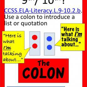 Valuable 10Th English Lessons Colon! Using Colons To Introduce A List And A Quote | Worksheet