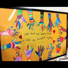 Valuable Classroom Art Ideas Helping Hands-School Auction Item | Class Art Projects, Auctio