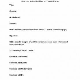 Valuable Common Core Aligned Lesson Plan Template Pdf 39 Best Unit Plan Templates [Word, Pdf] - Templat