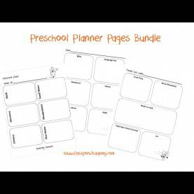 Valuable Daily Plan Book For Preschool Homeschool Lesson Planner P