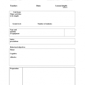 Valuable Edtpa Lesson Plan Template Physical Education Physical Education Lesson Plan Template Principal Illustratio