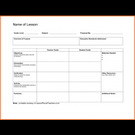 Valuable Empty Lesson Plan Template 7+ Free Blank Lesson Plan Templates | Bussines Proposal