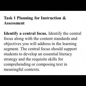Valuable Essential Literacy Strategy Examples Edtpa Teacher Performance Assessment. Planning Task Selectin