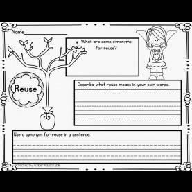 Valuable First Grade Lesson Plan Reduce Reuse Recycle The Best Of Teacher Entrepreneurs Ii: Free Earth Day Vocabular