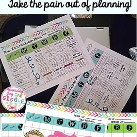 Valuable Free Lesson Plan Templates For Kindergarten Teachers It Is Always Easier To Plan When You Have A Pretty Page To Look A