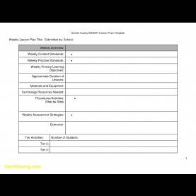 Valuable Free Math Lesson Plan Templates Inspirational Lesson Plan Template Free | Best Templ