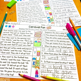 Valuable Guided Reading Grade 1 Differentiated Reading Passages And Questions Spring Grade