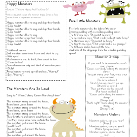 Valuable How To Make A Lesson Plan For Nursery Class Mrs Home Ec: Monster Lesson Plan €? | Pintere