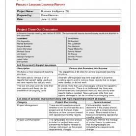 Valuable Lessons Learned Pdf Project Lessons Learned Template 2 Free Templates In Pdf Wor