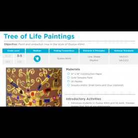 Valuable Tree Lesson Plans Tree Of Life Paintings: Free Lesson Plan Download - The Art O