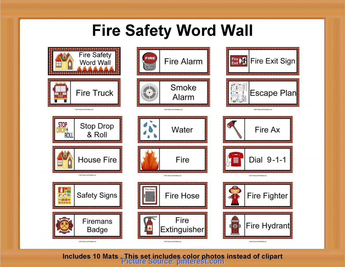 Top Community Lesson Plans Kindergarten Fire Safety Word Wall | Firefighter Unit | Pinterest | Fire Safet