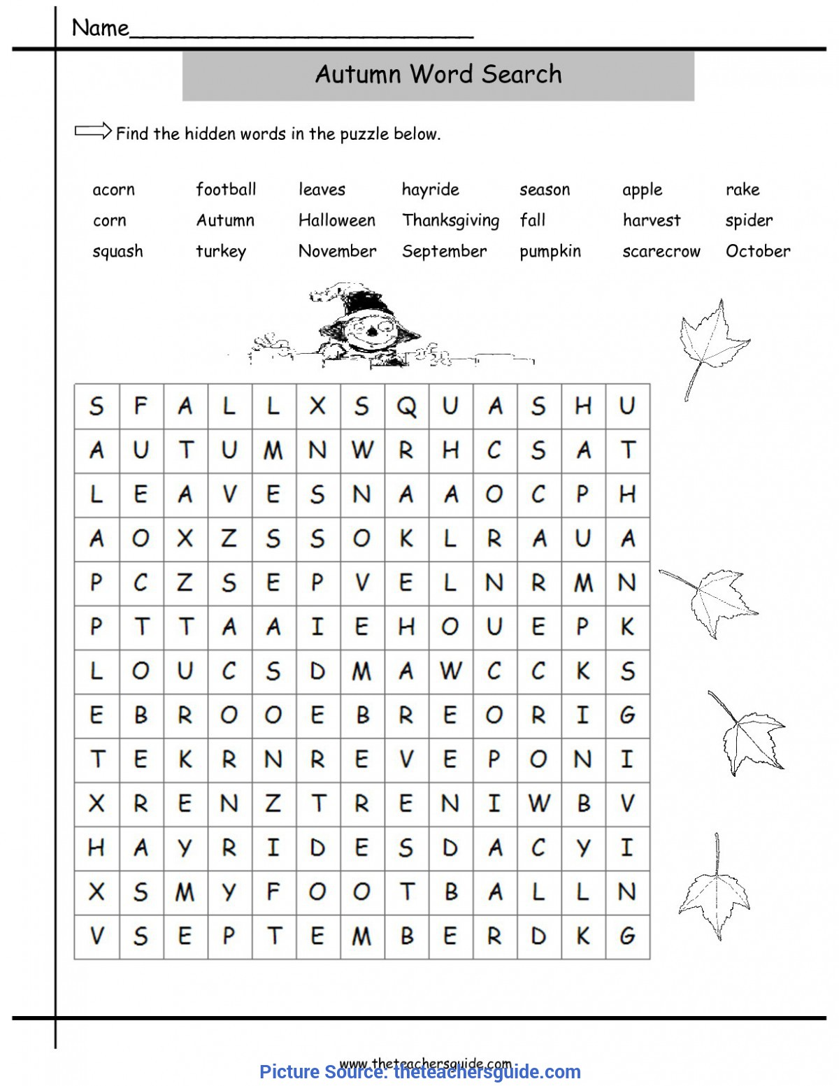 Top Fall Lesson Plans For Kindergarten Fall Lesson Plans, Printouts, Themes, Crafts, And Cli