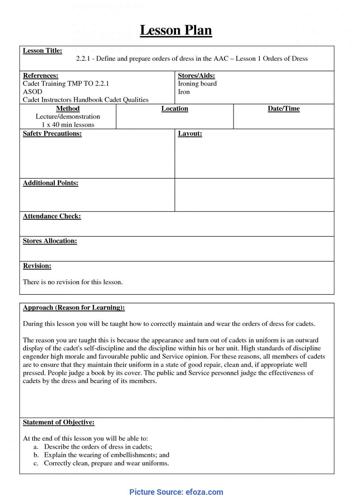 Top How To Make A Lesson Plan For Cadets 7 Best Images Of Training Lesson Plan Template - Sample Lesso
