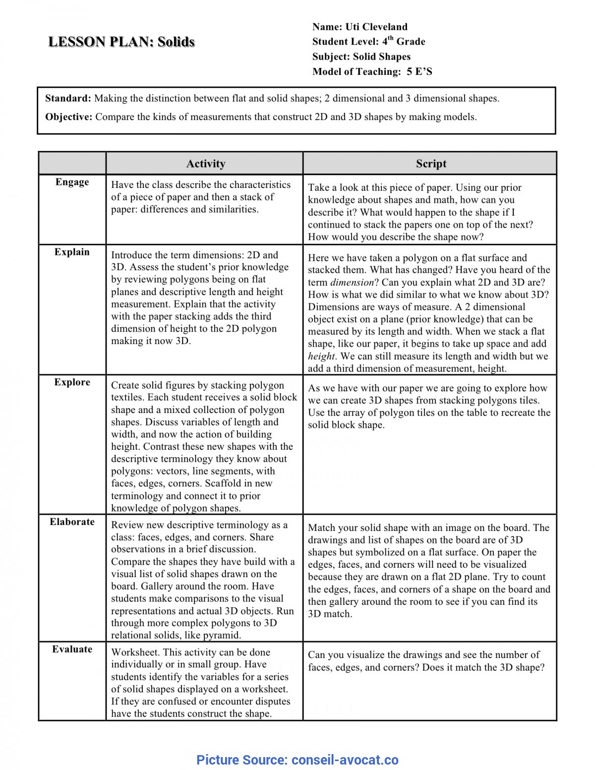 Top Mathematics Lesson Plan Template Free Format Word Coupon Cash Rent Rec