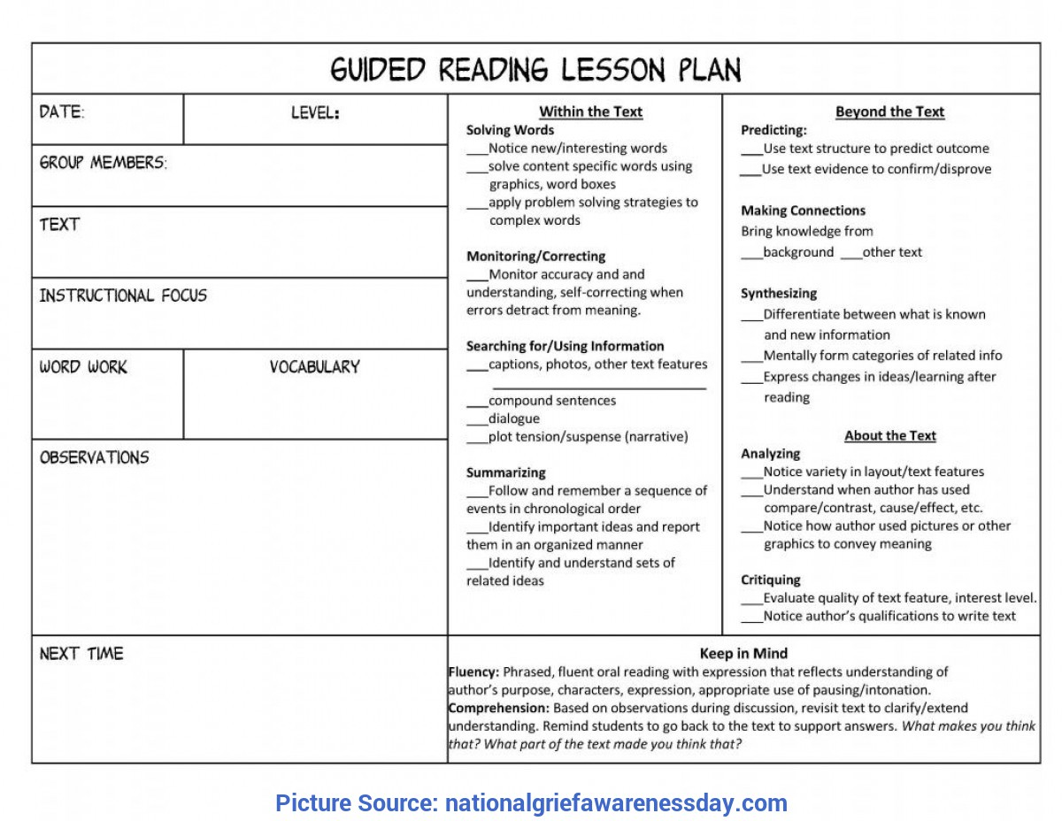 Top Reading Lesson Objectives Lesson Plan Format | Template Busi