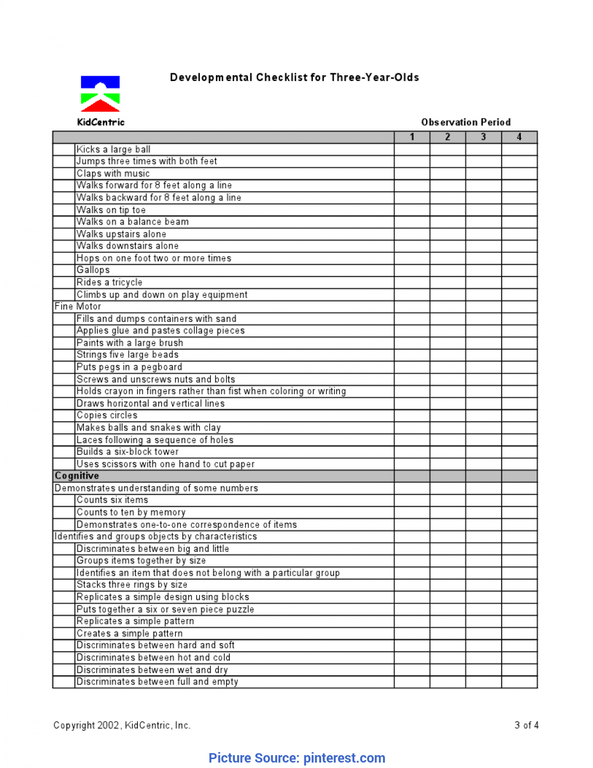 Top Two Year Old Curriculum Assessment 3 Year Old Page 3 Of 4   Assessment Ideas   Pinteres