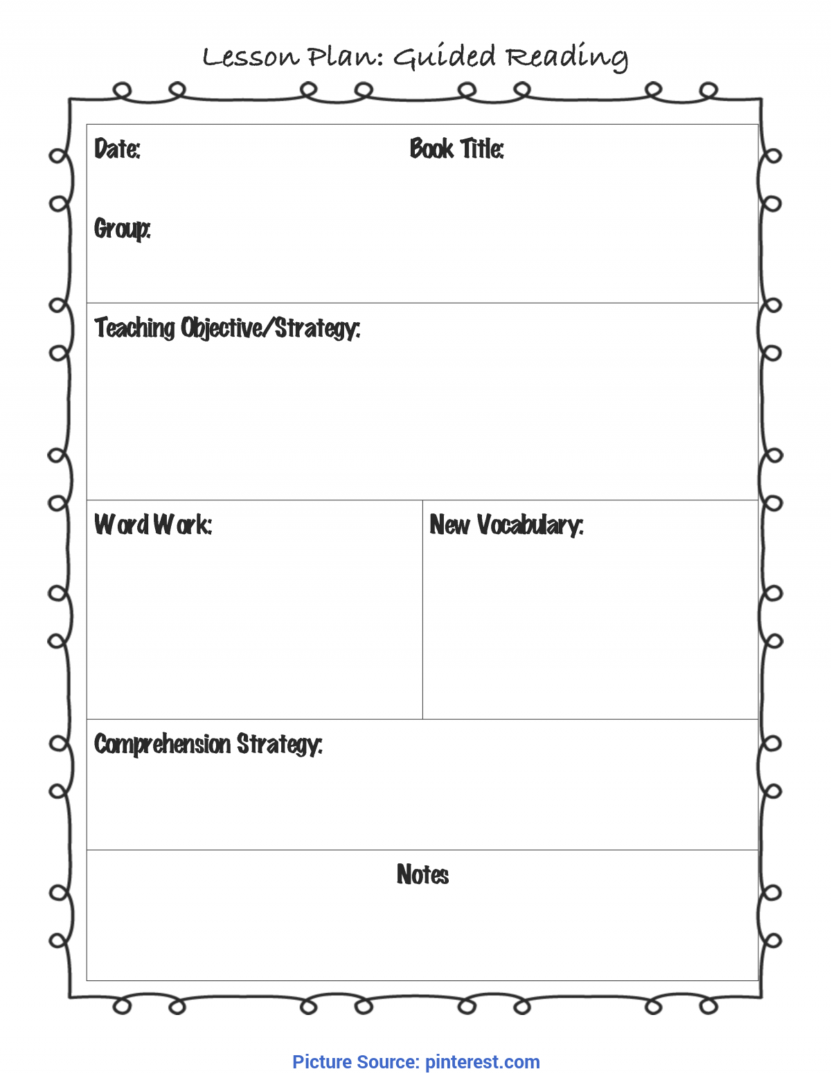 Trending Guided Reading Lessons 2Nd Grade Guided Reading Lesson Plan Template | For The Classroo