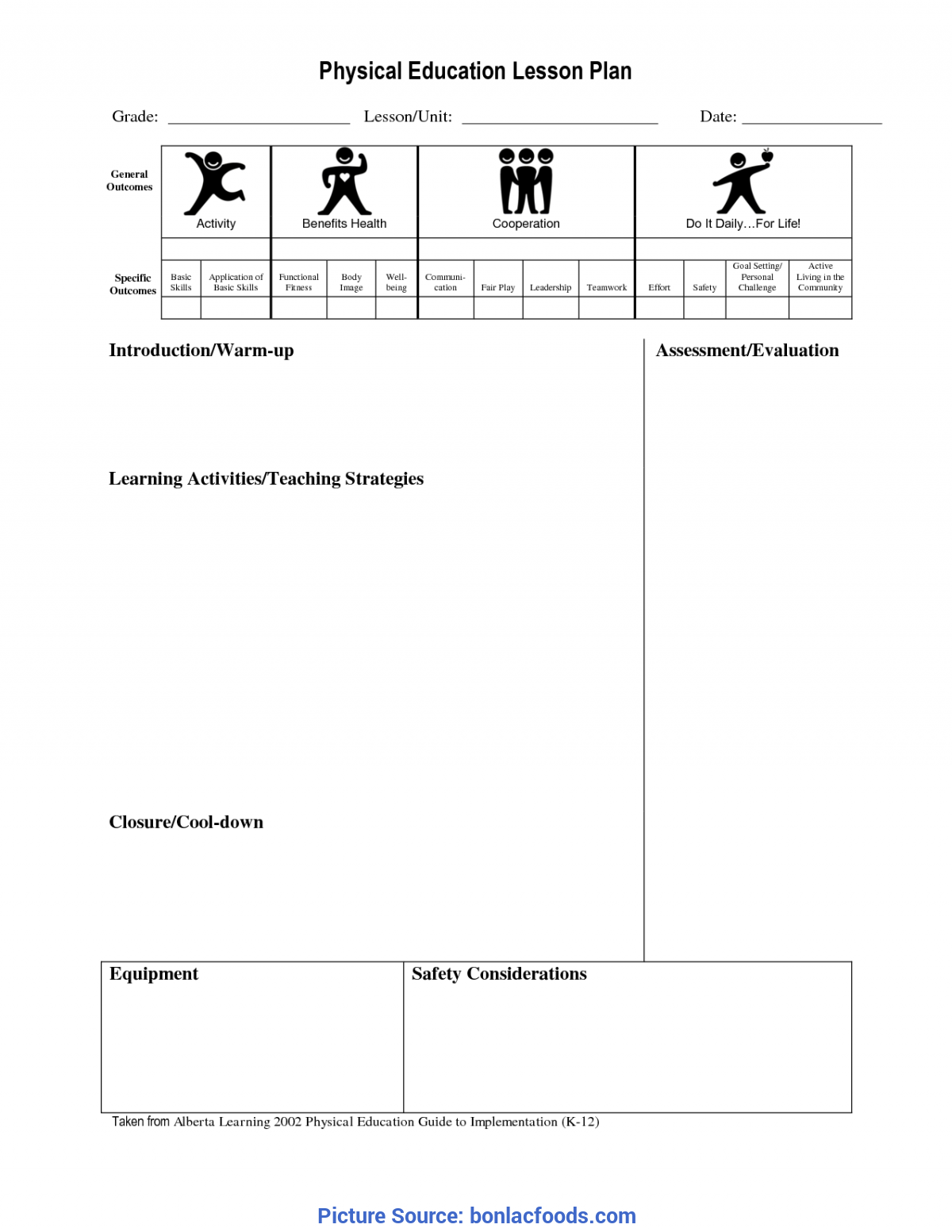 Trending Physical Education Lesson Plan Templates Blank Worksheets For All | Download And Share Worksheets | Free O