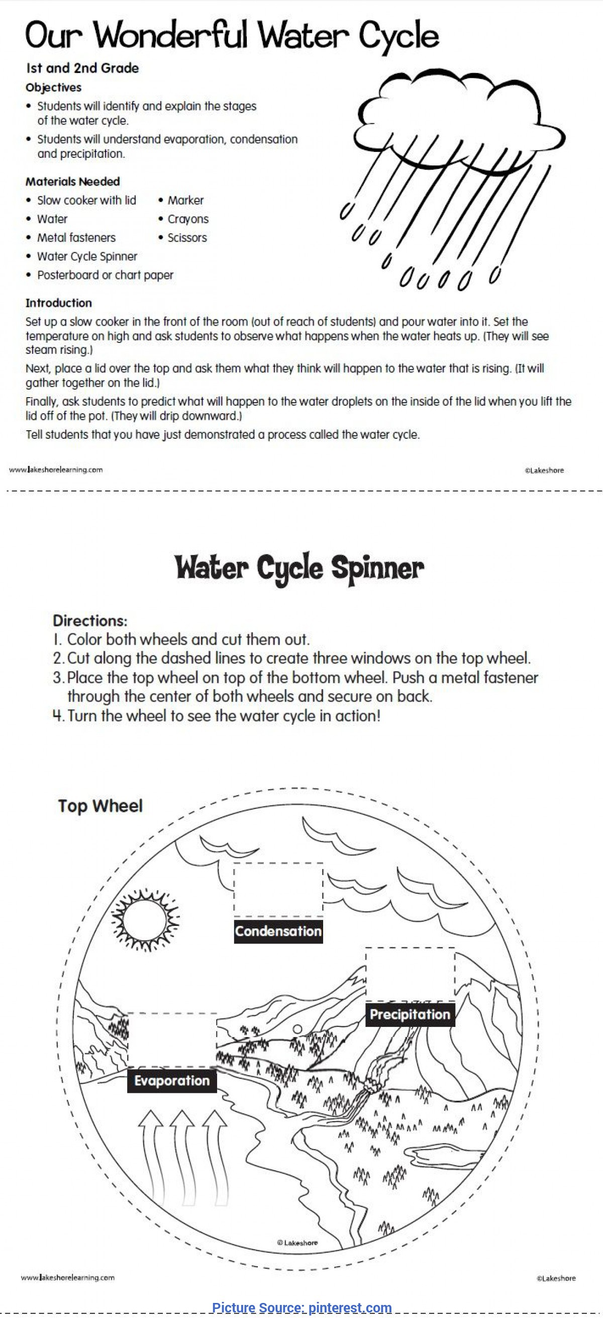 Typical 2Nd Grade Lesson Plans On Water Cycle 357 Best Water Cycle ™? Projects & Ideas For Kids Images O