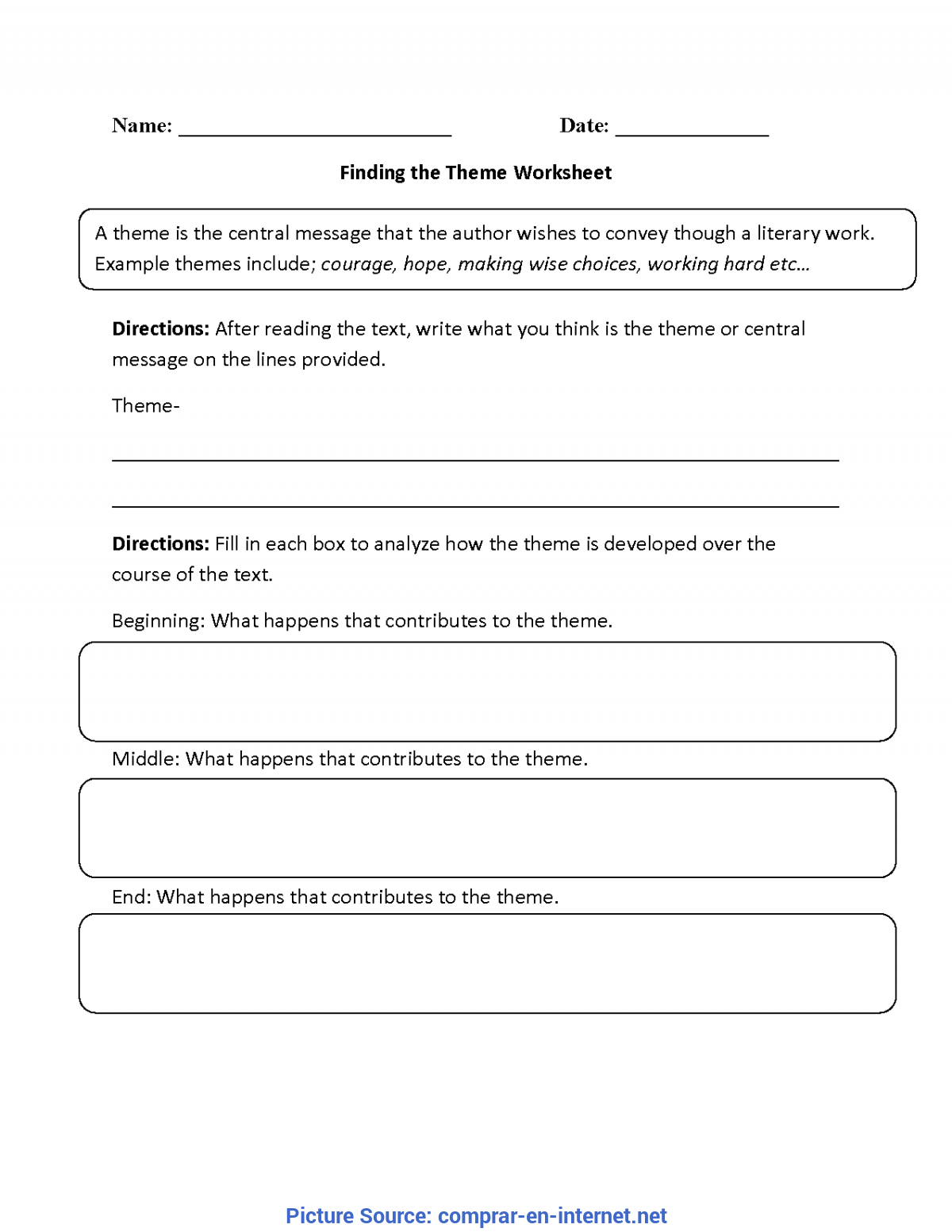 Typical 3Rd Grade Lesson Plans On Theme Theme Worksheets For 3Rd Grade Free Worksheets Library | Downloa