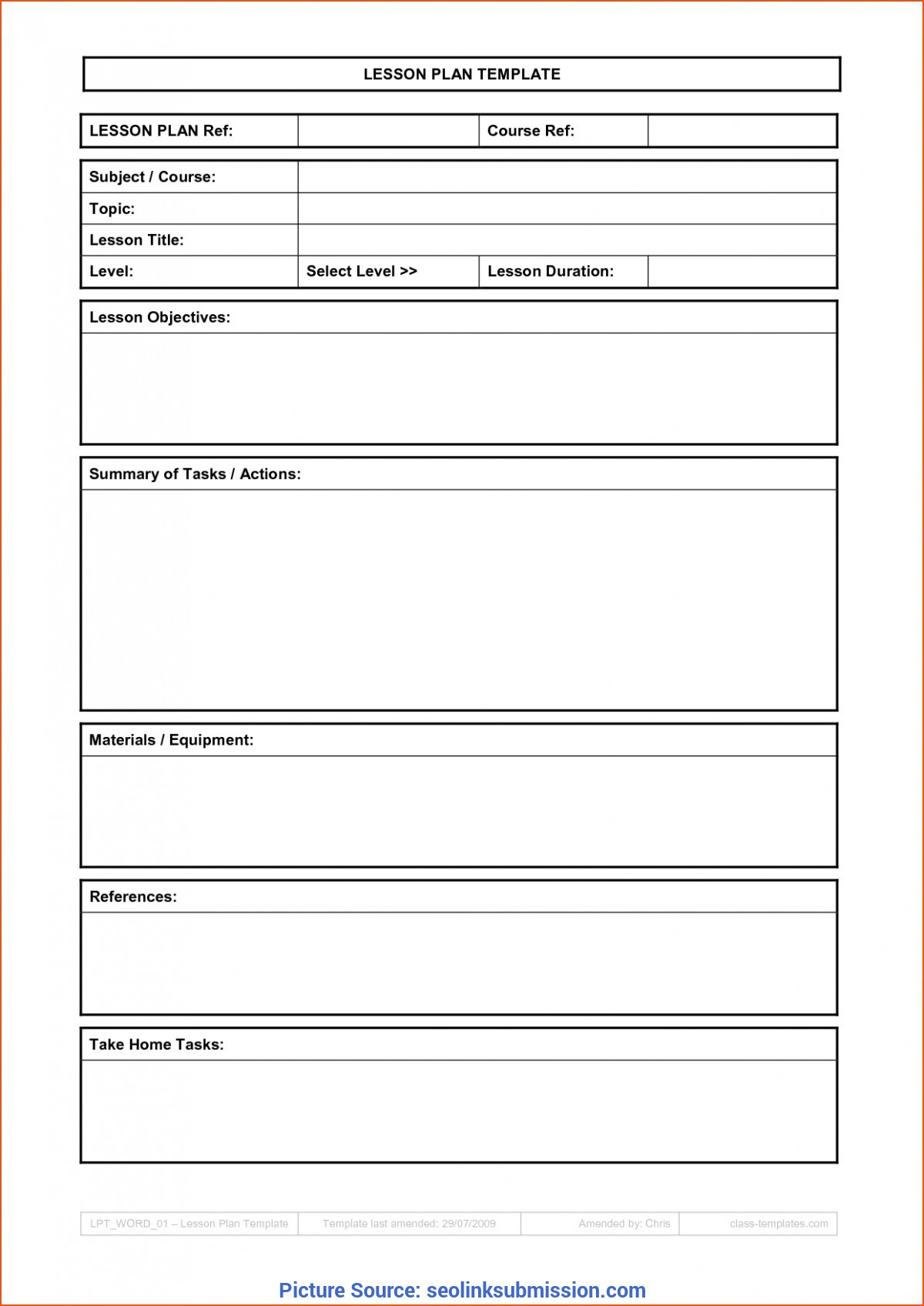 Typical Basic Lesson Plan Basic Lesson Plan Template | Professional Temp
