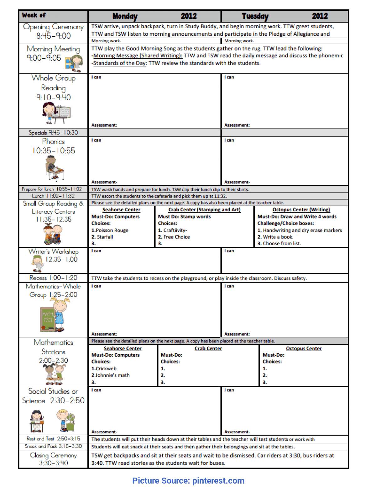 Typical Jan Richardson Lesson Plan Template Lesson Plan Templates 2012-1213.Pdf - Google Drive | Educatio