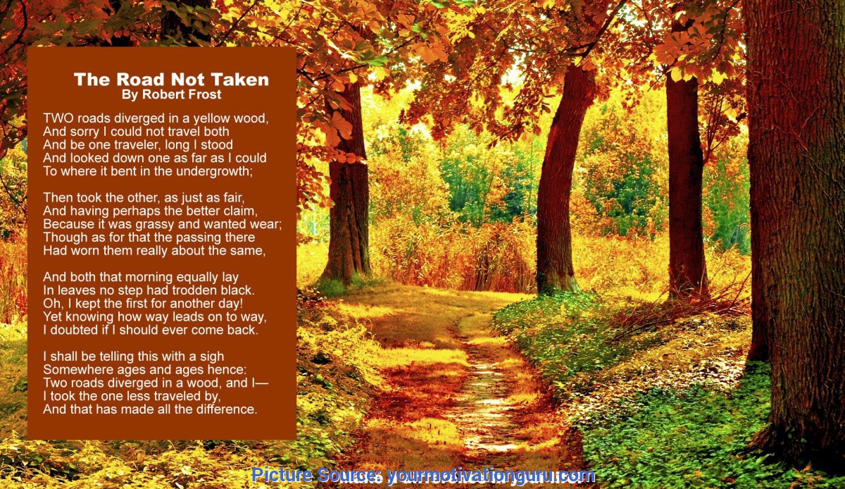 Typical Lesson Plan For Teaching The Road Not Taken Robert Frost'S -The Road Not T