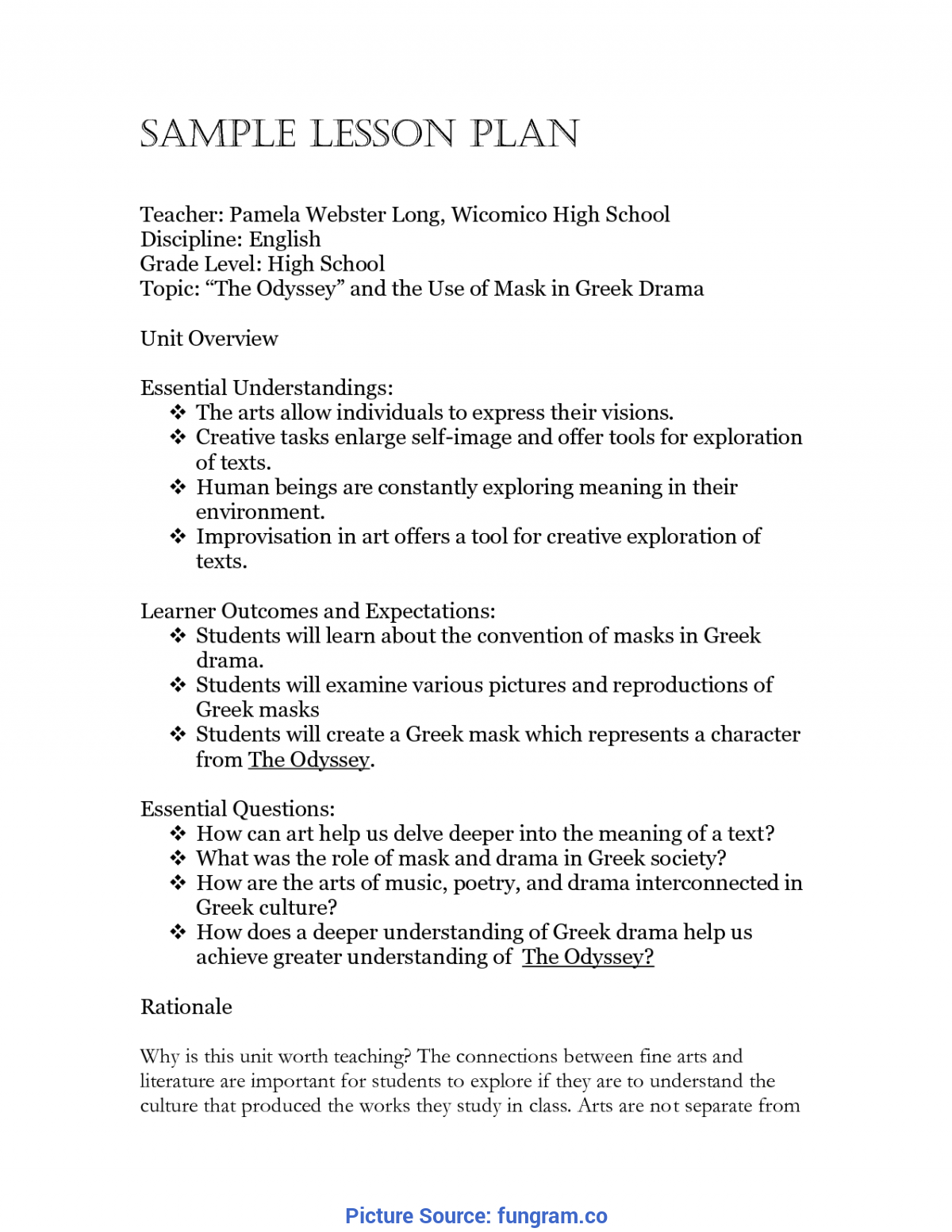 excellent daily lesson plan for kindergarten download free
