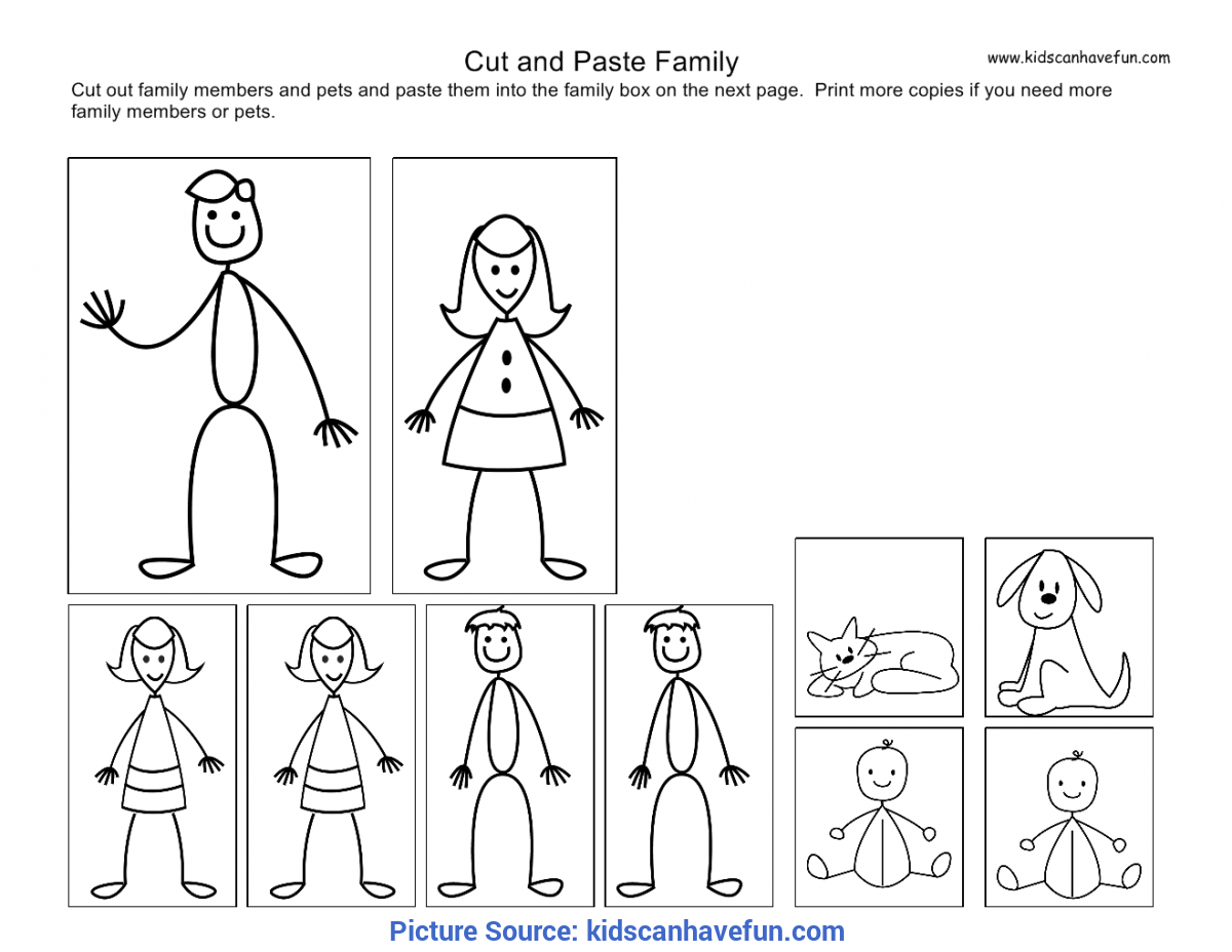 Typical My Family Activities For Kindergarten Cut And Paste Kids, Family Worksh