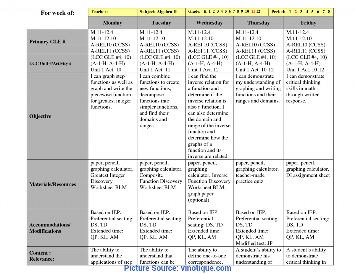 Typical Sample Lesson Plans For High School History Other Template Category Page 35 - Vinotique