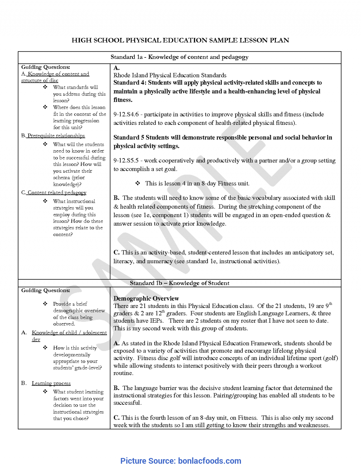 Regular Free Siop Lesson Plan Template 1 Siop Lesson Plan Template 1