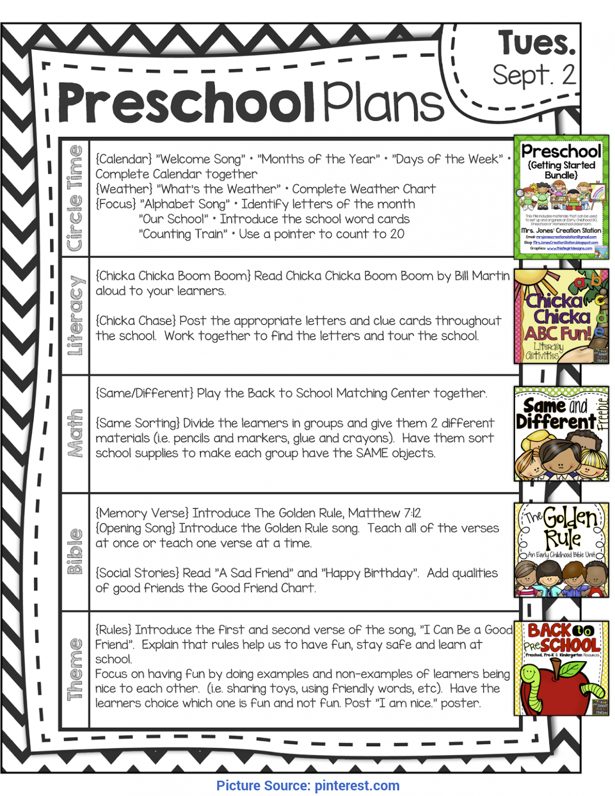 Unusual Lesson Plans For Preschool First Day Of School Peek At My Week * Back To Pre-School | Lesson Plan Templates, Pr