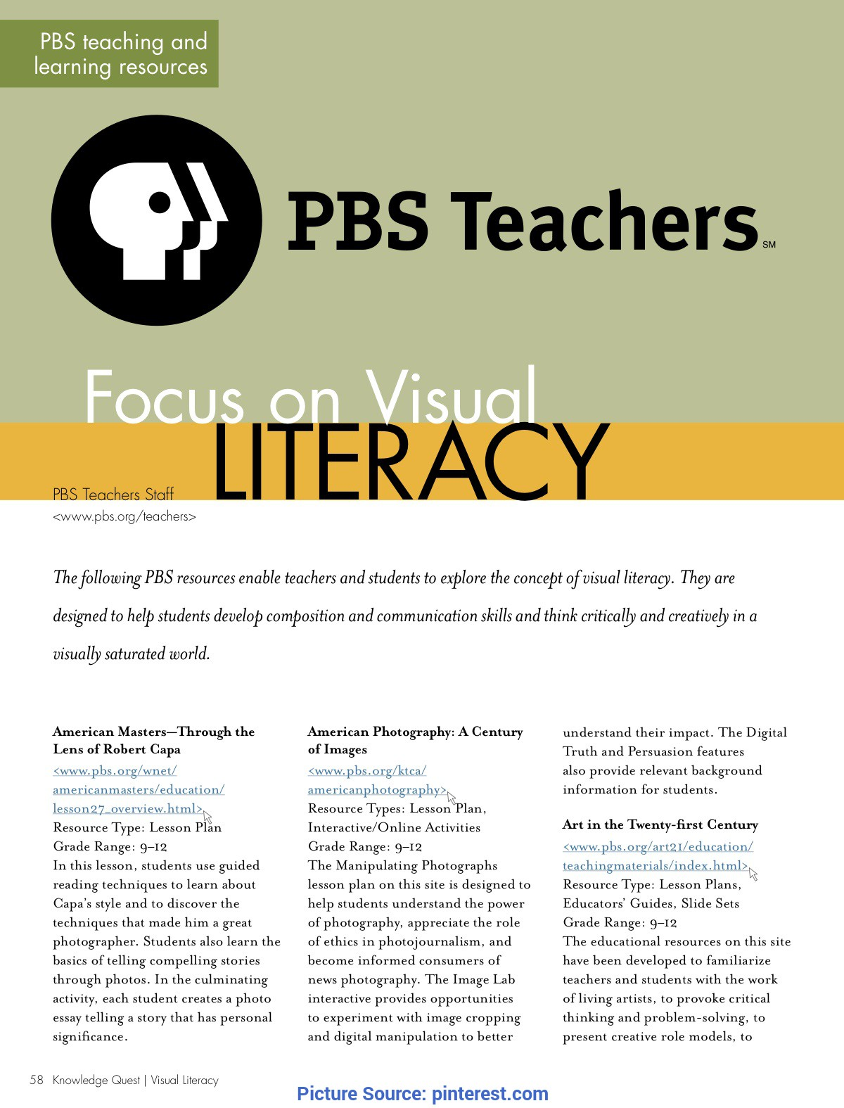 Unusual Pbs Lesson Plans Resource: Lesson Plans By Pbs Teachers For Guiding Teaching An