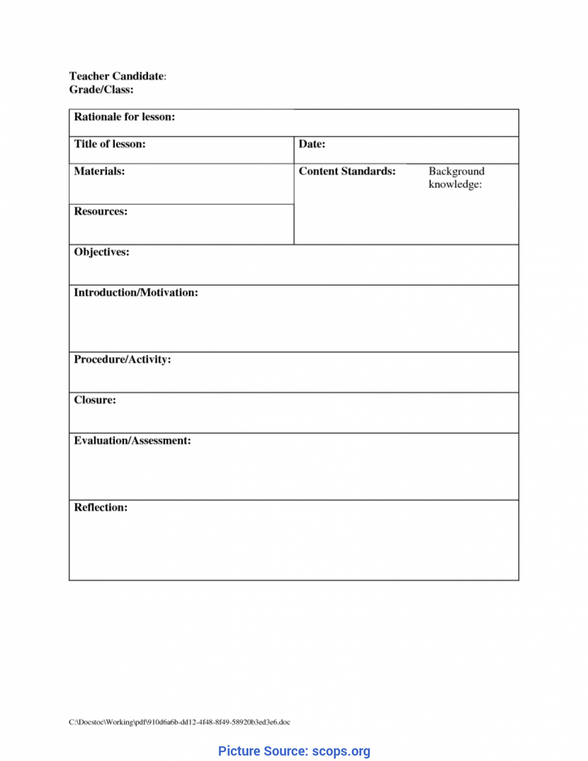 Useful Daily Lesson Plan Template Preschool Daily Lesson Plan Template Expinmedialab Co Children'S Newslette