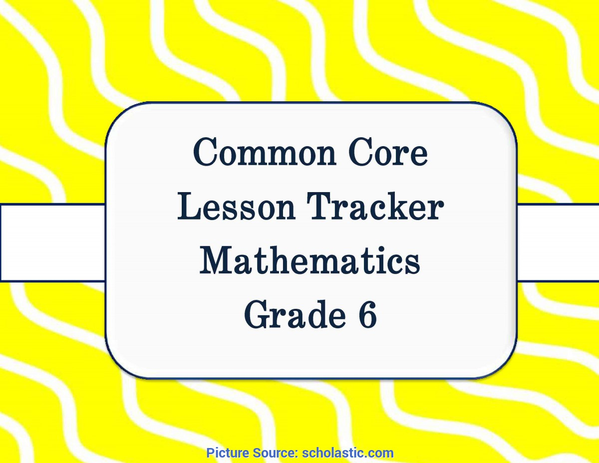 Useful English Lesson Plan Grade 6 Common Core Math And Ela Lesson Plan Organizers For The Middl