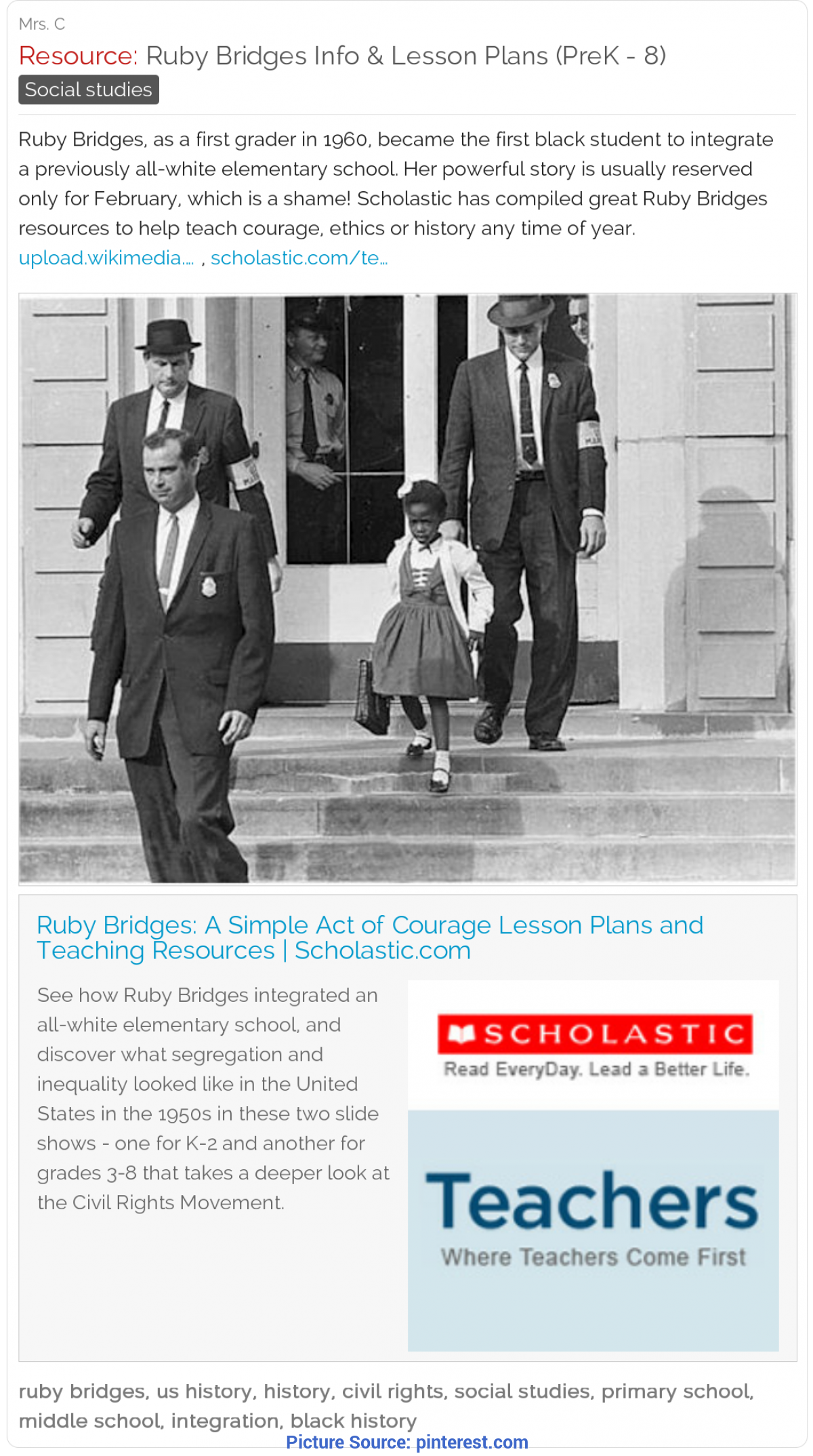 Useful Ethics Lesson Plans Free Ruby Bridges Lesson Plans (Prek - 8) - Scholastic Ha