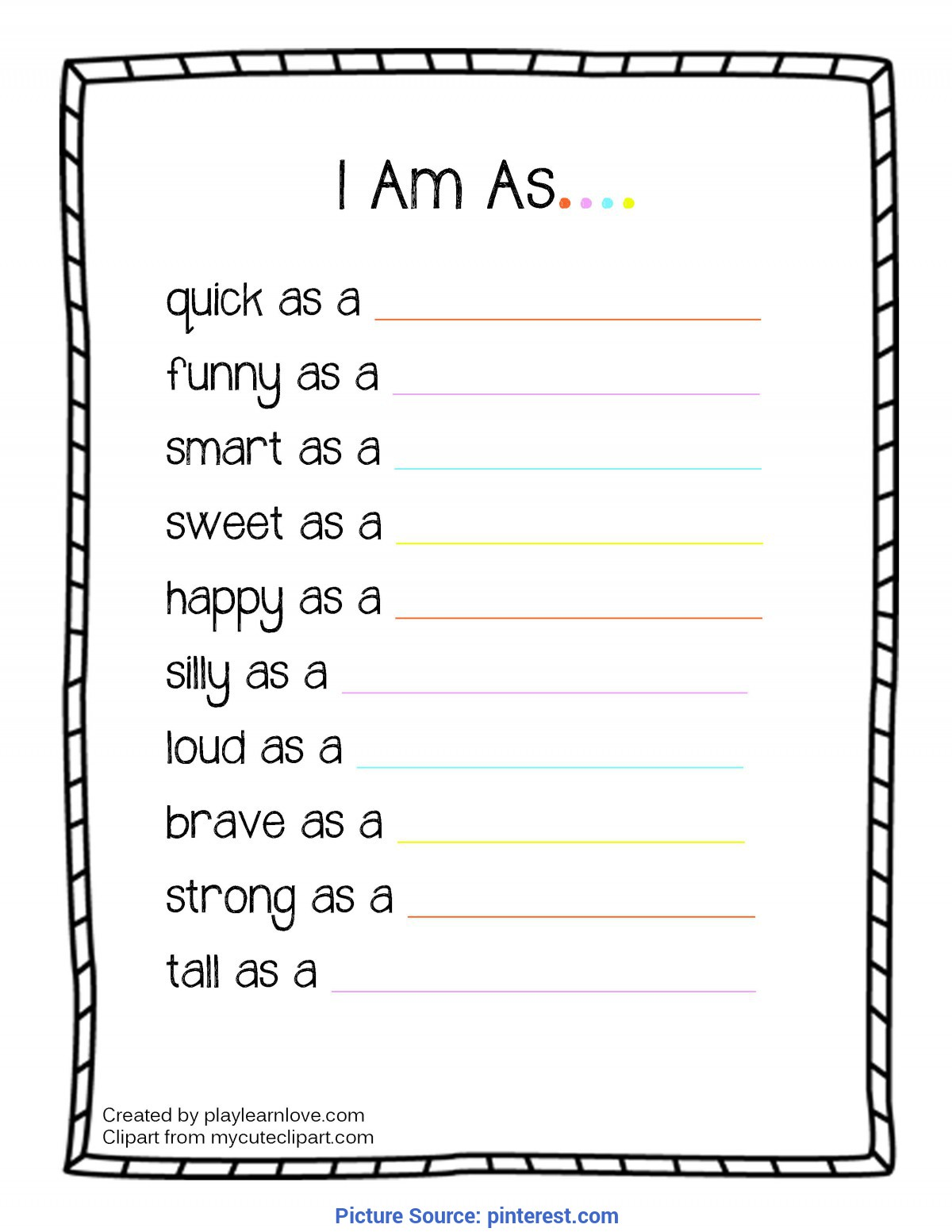 photo regarding All About Me Free Printable referred to as Informative Totally free Printable Little one Curriculum All With regards to Me I Am