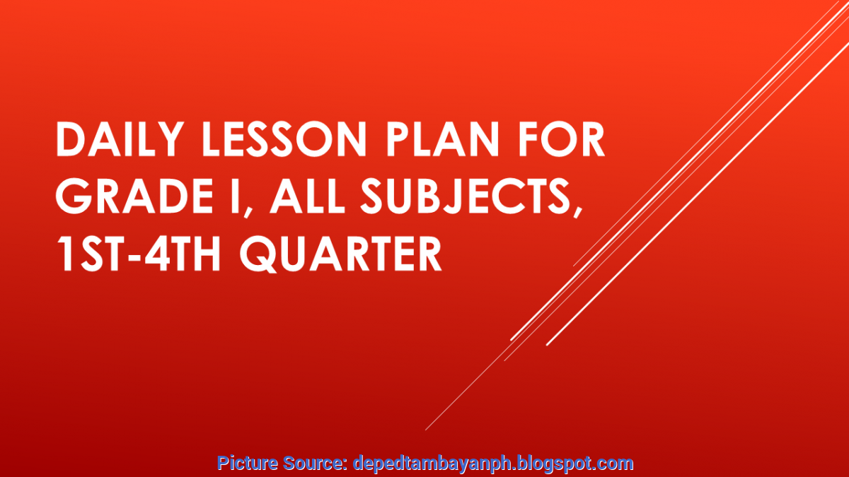 Useful Lesson Plan Sample In Filipino Grade 3 Ready Made Lesson Plans For Grade 3, All Subject For Q1-Q4 | Depe