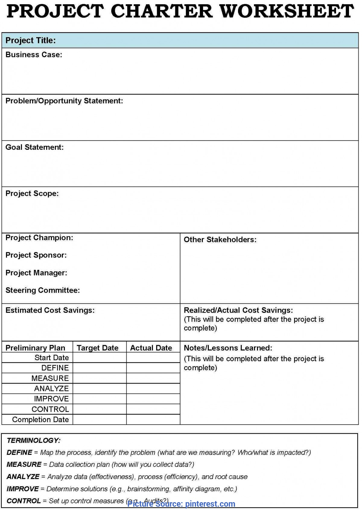 Useful Lessons Learned Project Management Sample Project Charter Templates - Google Search   #creativepreneur Lif