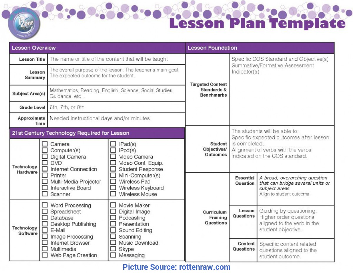 Useful Teacher Lesson Plan Template Online Free Blank Lesson Plan Templates Best Business Template Qw9Zdlc