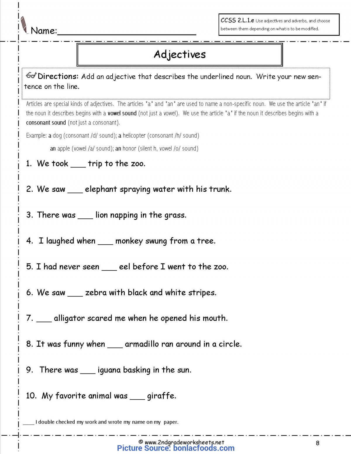 Valuable 2Nd Grade Lesson Plans Adjectives Worksheets For All | Download And Share Worksheets | Free O