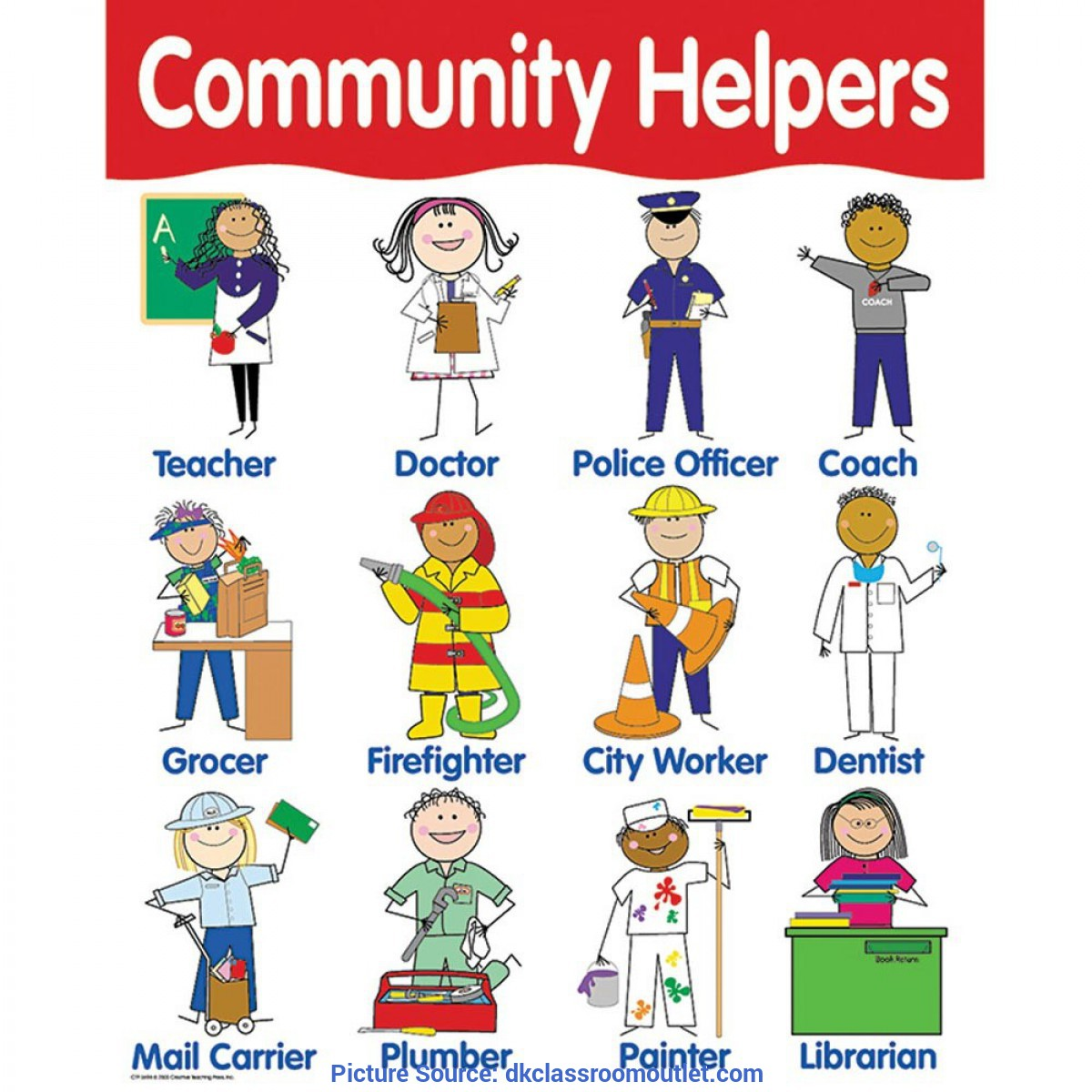 Valuable Community Helpers Lesson Plans Teacher Chart Community Helpers - Ctp5694 | Creative Teaching Press | Ch