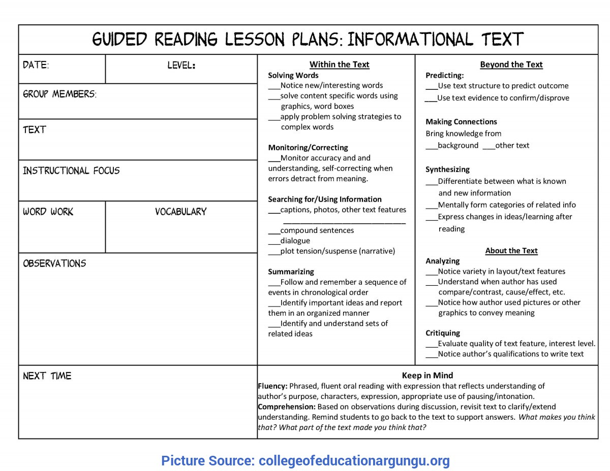 Valuable Detailed Lesson Plan In Reading For Grade 3 19 Shared Reading Lesson Plan Template, Guided Reading Lesson Pla