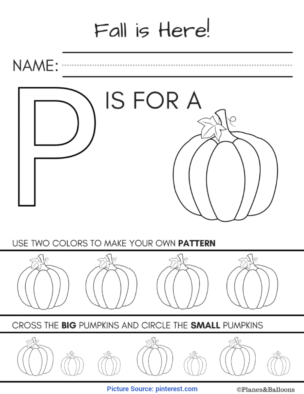 graphic regarding Fall Printable Activities identify Worthwhile Slide Functions For Kindergarten Drop Worksheets