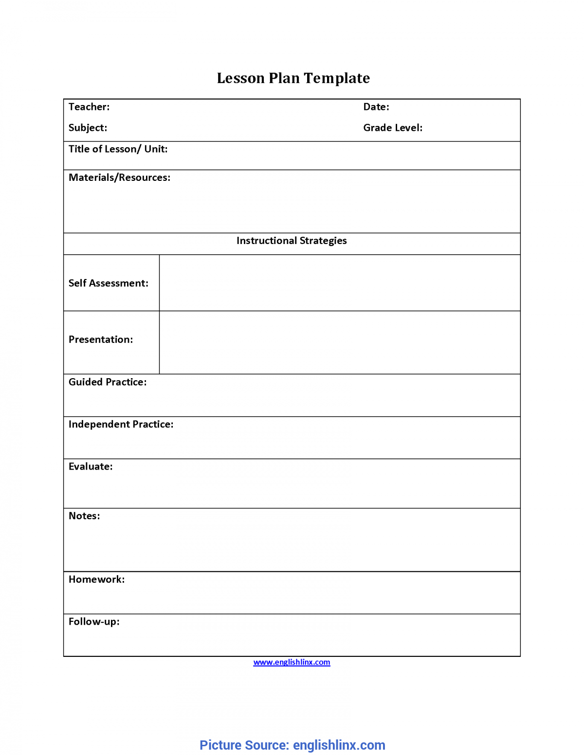 Valuable Guided Practice Lesson Plan Englishlinx.Com | Lesson Plan Temp