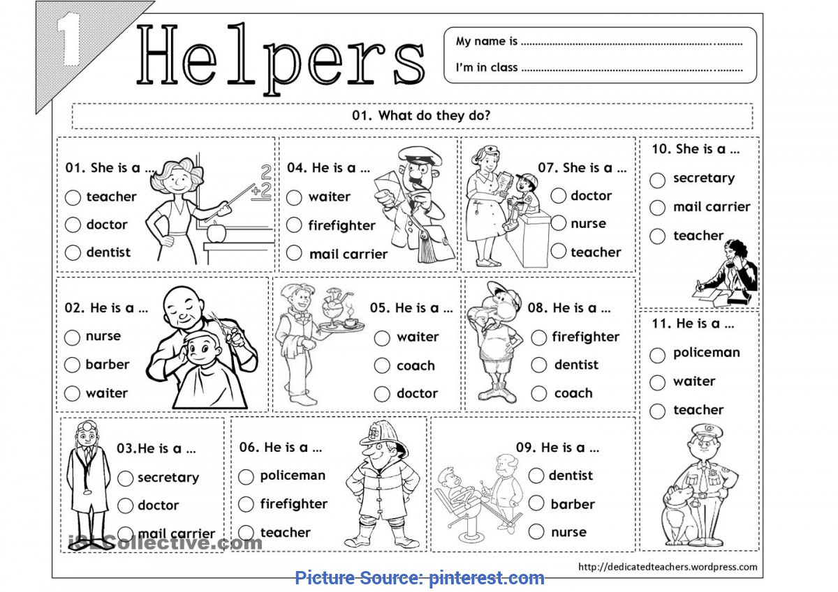 Valuable Our Helpers Worksheet Kindergarten Social Studies - Google Search | 11 Co-Op | Pinteres