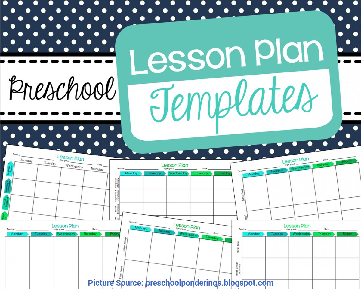 Great One Day Lesson Plan Template Pdf Free Weekly Schedule