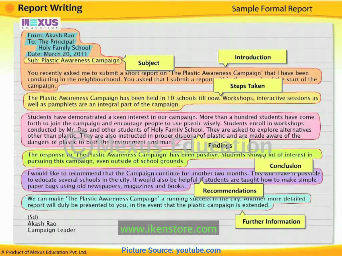 Best How To Write Lessons Learned English Lesson: Learn Report Writing - You