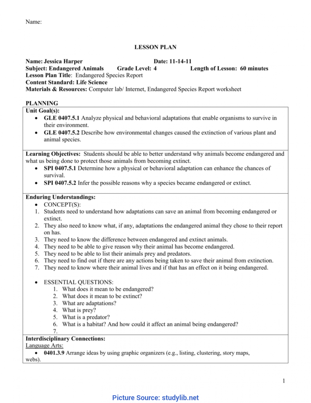 Best Lesson Plan For Science Grade 5 Science Lesson